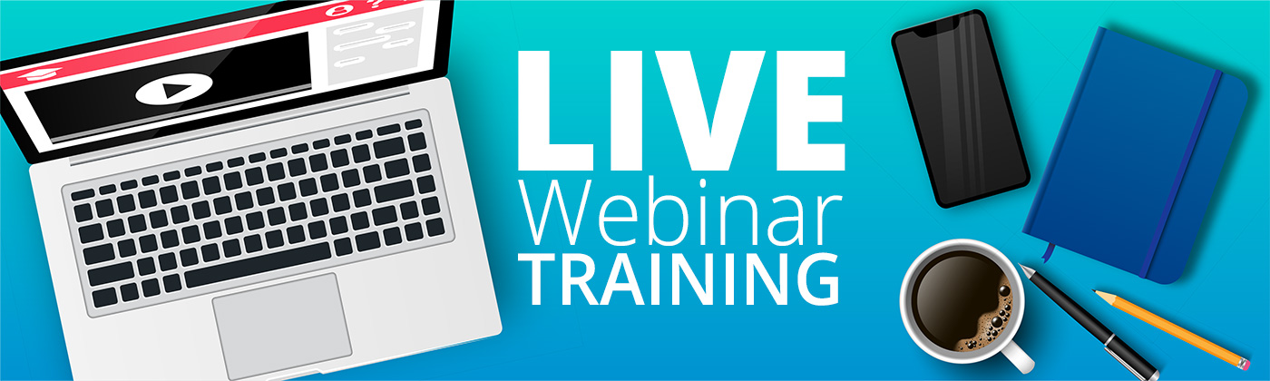 Computer phone and live webinar training